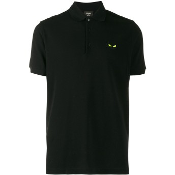 Fendi バッグバグズ ポロシャツ - ブラック