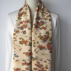 敬老の日に 和の贈り物 着物地 リバーシブルスカーフ