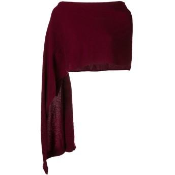 Talbot Runhof sleeved stole - レッド