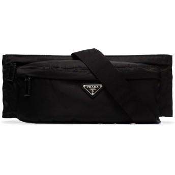 Prada ロゴプレート ショルダーバッグ - ブラック
