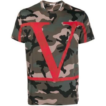Valentino Vロゴ カモフラージュ Tシャツ - グリーン