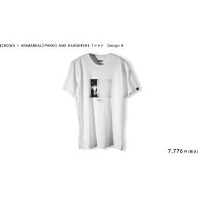 【CROWS × ANIMAREAL】PARKO AND DANGERERS Tシャツ Design B(サイズ : M, カラー : ホワイト)