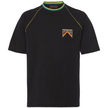 Prada ロゴプレート Tシャツ - ブラック