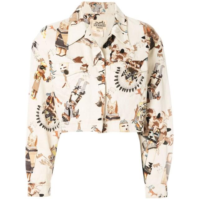 Hermès Pre-Owned First Nation ジャケット - ホワイト