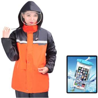 レインウェア メンズ レインスーツ 上下セット セパレート スマホケース付き フード付き 防水 アウトドア 雨具 男女兼用