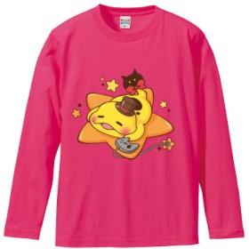 つちのこロングスリーブTシャツ(カラー : トロピカルピンク, サイズ : S)