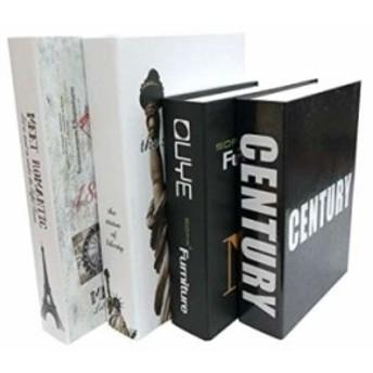 Gran Roi 飾る 本 イミテーション ブック 西洋書 インテリア 置物 ディスプレイ モダン 4冊セット E(4冊セット E)