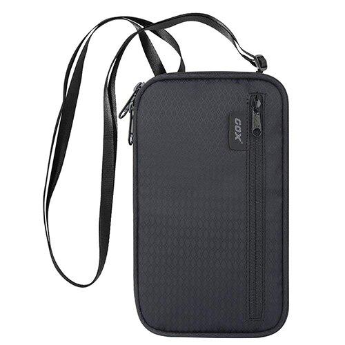 【現貨】COX護照包 防水 智能科技防盜 電波遮斷/RFID材質