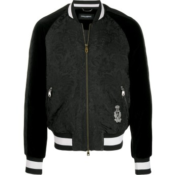 Dolce & Gabbana ジャカード ボンバージャケット - ブラック