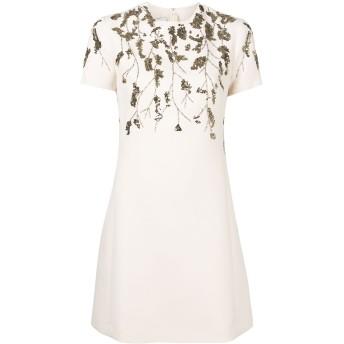 Valentino スパンコール ドレス - ニュートラル