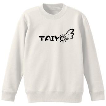 TAIYO ch クルーネックスウェット(カラー : ホワイト, サイズ : L)