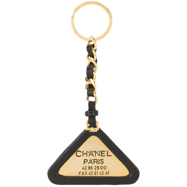 Chanel Pre-Owned ロゴ キーホルダー - ブラック