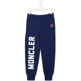 Moncler Kids ロゴ トラックパンツ - ブルー