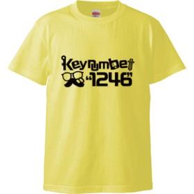 1246Tシャツ文字黒(Tシャツ)(カラー : ライトイエロー, サイズ : L)