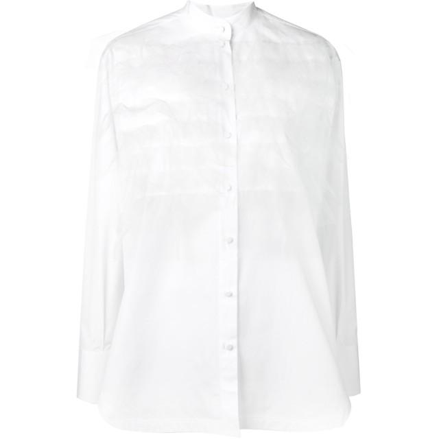 Valentino チュールレイヤー シャツ - ホワイト