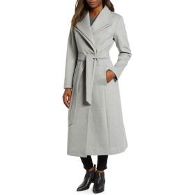 (ケネスコール ニューヨーク) KENNETH COLE NEW YORK Double Lapel Wool Blend Wrap Coat ダブル襟ウール ブレンド ラップ コート (並行輸入品)