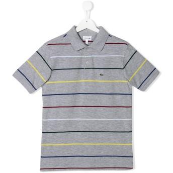 Lacoste Kids ストライプ ポロシャツ - グレー