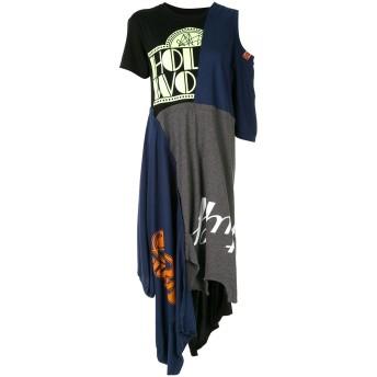 Maison Mihara Yasuhiro デコンストラクト Tシャツドレス - マルチカラー