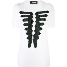 Dsquared2 フロントアップリケ Tシャツ - ホワイト
