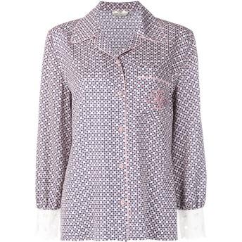 Fendi シルク ロゴシャツ - ピンク