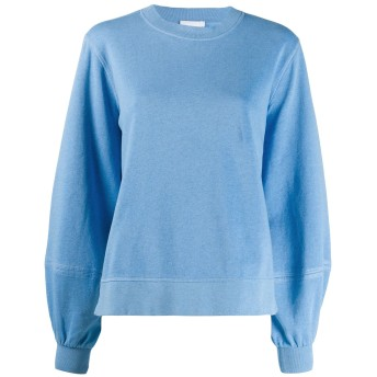 Ganni ベルスリーブ スウェットシャツ - ブルー