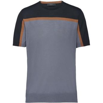 Prada カラーブロック ニットTシャツ - ブラック