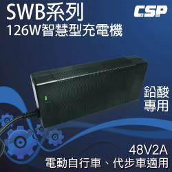 【CSP】電動車充電器SWB48V2A智慧型自動充電器(126W)電動自行車.代步車 充電器