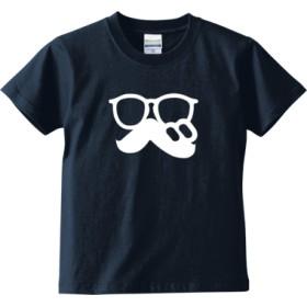 「 べ (まるべり) 」ロゴTシャツ文字白(キッズTシャツ)(カラー : インディゴ, サイズ : 130)