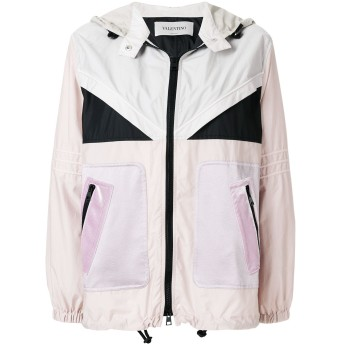 Valentino フーデッド ライトジャケット - ピンク