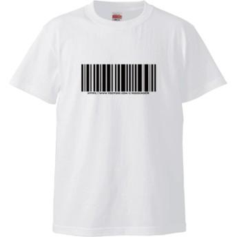 バーコード Tシャツ(カラー : ホワイト, サイズ : S)