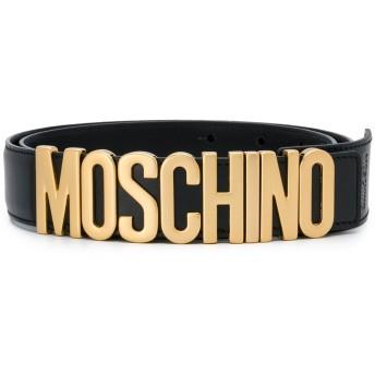 Moschino ロゴ レザーベルト - ブラック