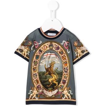 Dolce & Gabbana Kids プリント Tシャツ - ブルー