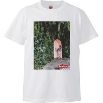 謎の森とドア編【韓国】(Tシャツ)(カラー : ホワイト, サイズ : L)