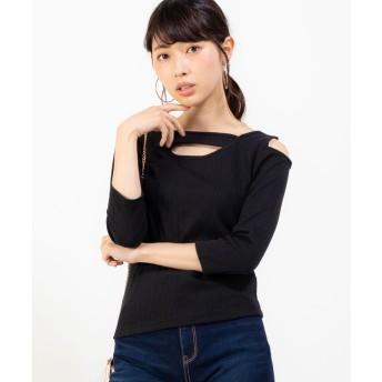 WEGO ワンショル7分袖リブTシャツ