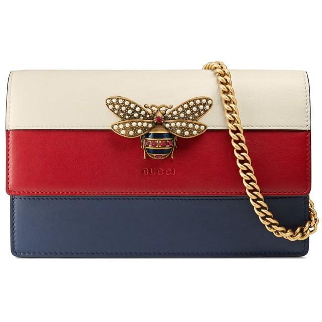 sale retailer 2618c 4b237 Gucci クイーンマーガレット チェーンウォレット - ブルー 通販 ...
