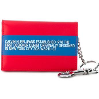Calvin Klein Jeans Est. 1978 三つ折り財布 - レッド