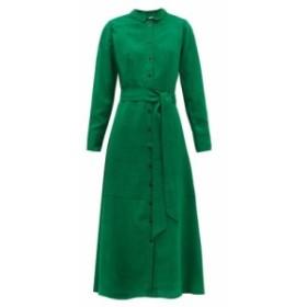 セフィン Cefinn レディース ワンピース ワンピース・ドレス Belted voile shirtdress Green