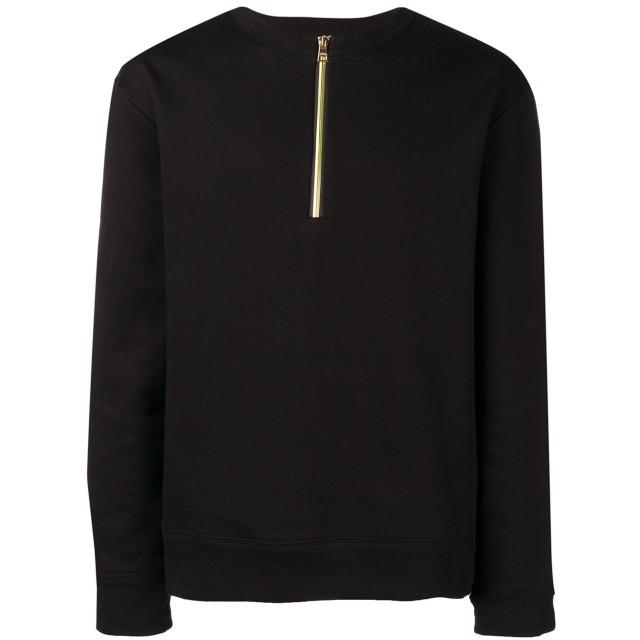 Versace Collection ハーフジップ スウェットシャツ - ブラック