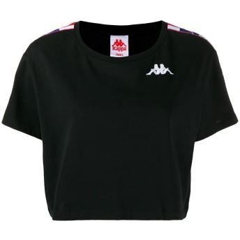 Kappa ロゴ ストライプ Tシャツ - ブラック
