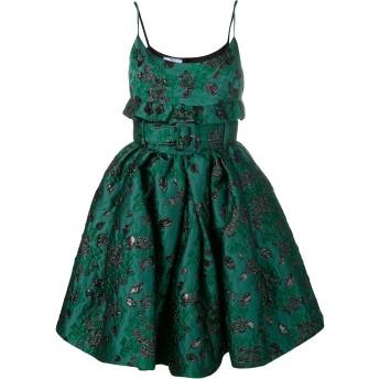 Prada ジャカード ショートドレス - グリーン