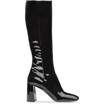 Prada エナメルレザー ブーツ - ブラック