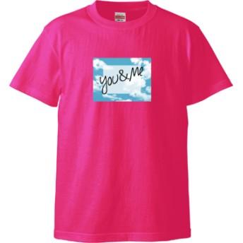 you & meTシャツ(デザインE)(カラー : トロピカルピンク, サイズ : M)