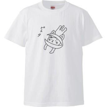 ピスタ Tシャツ(カラー : ホワイト, サイズ : S)