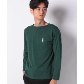 (Melan Cleuge/メラン クルージュ)リンクおじさんバスクシャツ/メンズ グリーン