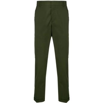 Prada プリーツ テーラードパンツ - グリーン