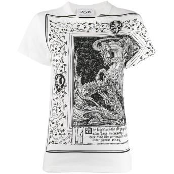 Lanvin ドラゴンプリント Tシャツ - ホワイト