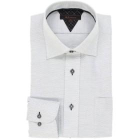 (TAKA-Q/タカキュー)形態安定レギュラーフィット ワイドカラー長袖シャツ/メンズ グレー