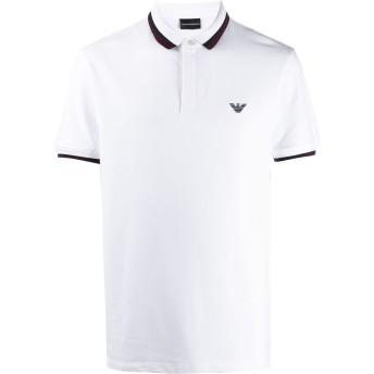 Emporio Armani ストライプトリム ポロシャツ - ホワイト
