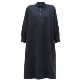 ホリデーボワロ Holiday Boileau レディース ワンピース ワンピース・ドレス Ines buttoned cotton dress Navy