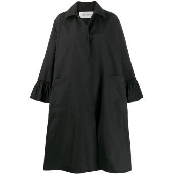 Valentino オーバーサイズ ラッフルコート - ブラック